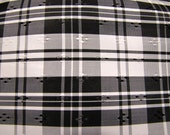 """Black and White Taffeta Fabric 4 Yards long, 60"""" wide- Perfect for Holidays, Parties, Matching Outfits"""