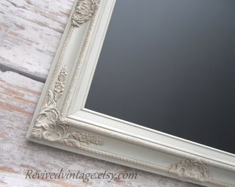 "RUSTIC FRAMED CHALKBOARD  Rustic Taupe Framed Menu Board Chalk board Vintage Wedding 31""x 27"" Rustic Brown Taupe Magnetic Chalkboard"