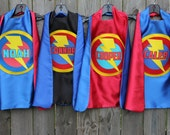 Kids Costume - Boys PERSONALIZED SUPERHERO CAPE - Customized Full Name Cape - Superhero Party - Hero gift - Ships fast - Easter Basket