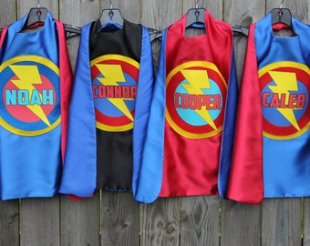 Free mask sale - Ship Fast - Kids Costume - Boys PERSONALIZED SUPERHERO CAPE - Customized Full Name Cape - Superhero Party