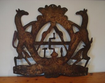 Antique Trade Sign, 18th/19th Century Joiner/Carpenter Polychrome Trade Sign