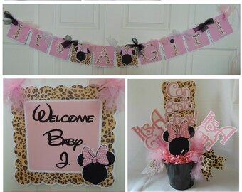 minnie mouse baby shower decorations party by asweetcelebration