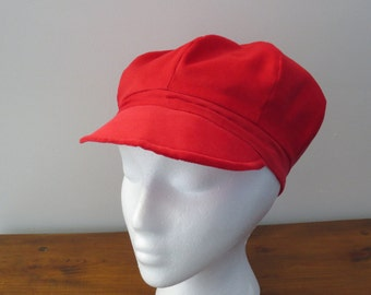 Newsboy Cap Newsboy Hat Red Newsboy Cap Red Corduroy Newsboy Red Corduroy Hat Red Corduroy Cap