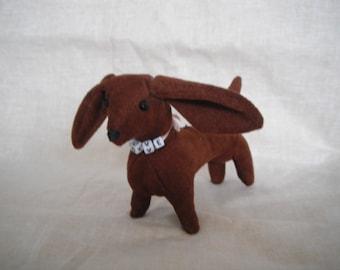 Dachshund Dog / Stuffed Animal / Stuffed Dog / handmade gifts /  animal lover gifts