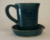 Denim Blue Pottery Bacon Cooker