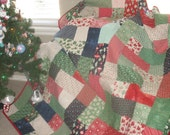 Holly Jolly Christmas Large Lap/Throw Quilt