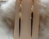 Femme fatal- Porcupine quill earrings