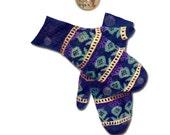 Scottish Thistle Mittens Vintage Knitting Pattern - 1946 - Instant Download PDF - PrettyPatternsPlease