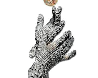 Wedding Gloves to Crochet - Vintage Digital Crochet Pattern - Lacy Openwork Gloves - Instant Download - PrettyPatternsPlease