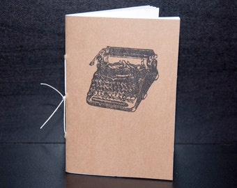 Typewriter Mini Notebook Party Favors (set of 10) - Antique Vintage Typewriter Stamped Books