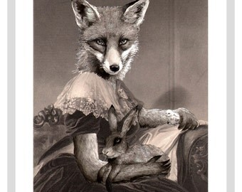 Mrs Spring Fox  - A3 print