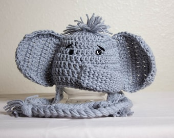 Crochet Animal Hats Elephant Hat Newborn Photo Props Crochet Elephant Hat Baby Shower Gifts Birthday Gifts Animal Beanie Handmade Hats
