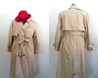 Etienne Aigner Belted Trenchcoat // Khaki All Weather Coat Size 12