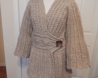 Hand Crocheted Wool Sweater