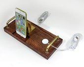 Apple Watch plus iPhone 6 Dock - iPod Dock - New Lighting Plug Kit or 30 Pin Mounted - Charger and Sync Station -- Oak - Apple Watch Charger