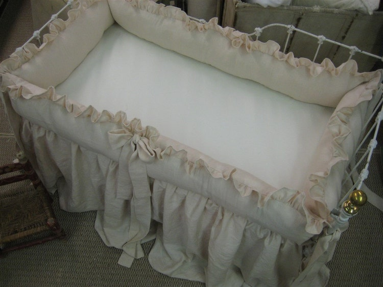 Heirloom Blush Pink Crib Bedding Ruffled By Cottageandcabin
