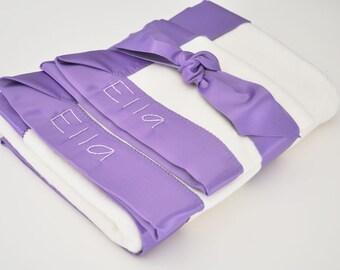 Organic Baby Girl Blanket -- Grape Purple -- Free Personalization