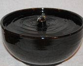 "Ceramic Cat Fountain - Pet Drinking Fountain  - REDUCED - 10.5 Diameter - ""Night Geyser"""