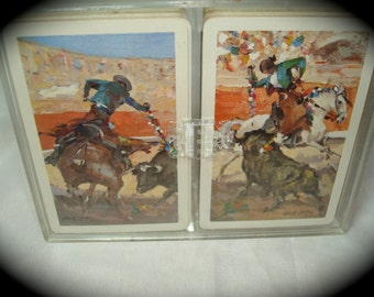 Vintage Heraclio Fournier Vitoria Bull Fighter Playing Cards.