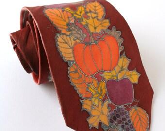 Tie - Outdoor autumn wedding, men's dapper tie, Fall wedding tie