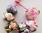 Sale! Chintz Garden Beads / Orphans