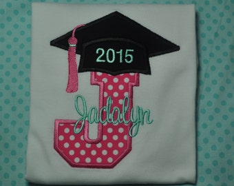 Kindergarten Graduation Shirt...Any Letter Can be Made