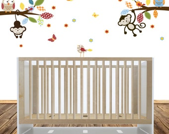 Vinyl Wall Decal   Branch Wall Decals, Jungle Nursery Bedroom, Boys Nursery Art, Vinyl Decals