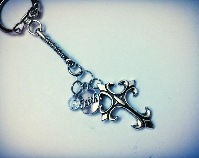 Christian Faith themed keychain, one of a kind