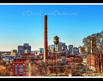 Richmond VA Skyline - Libby Hill Park - Lucky Strike Fine Art by Richmond VA Photographer Dave Lynch - Free Shipping on any additional items