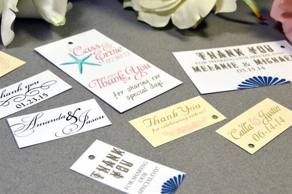... Tags - Beach Wedding Favor Tags - Rustic Wedding Favor Tag - Printed