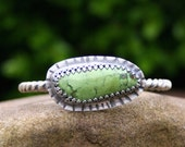 Reserved for Theresa - Chrysocolla Green Oxidized Sterling Silver Southwestern Boho Cuff Bracelet