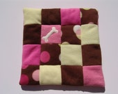 XS Fleece Dog Blanket Polka Dots