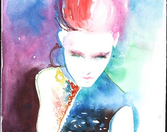 Original Painting, Watercolour Painting. Watercolor fashion illustration, Chanel, Original Art, Original Fashion watercolor,