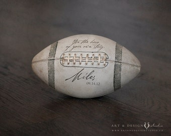 Personalized Print Boy, Football Art, Personalized Boys Room Art, Custom Sport Art, Vintage Football, Custom Name Art, Personalized Football
