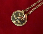 Best Friends - Friendship Brass Pendant Necklace Set