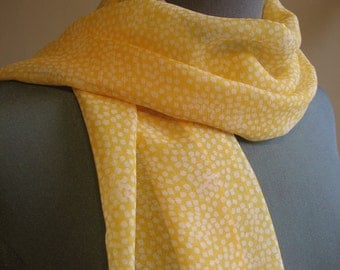 SALE - large yellow sheer scarf - 80s inspired