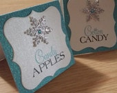 Snowflake Candy Buffet Tags