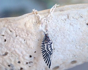 Angel Wing Necklace Silver Guardian Angel Pendant