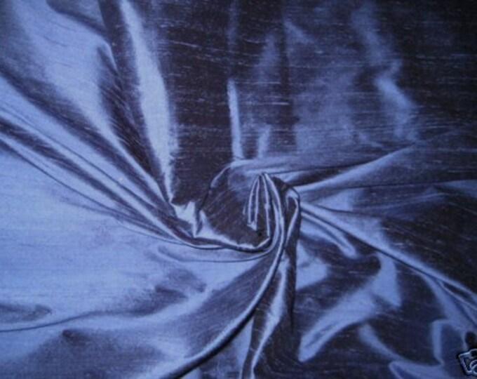 Periwinkle Blue 100% Dupioni Silk Fabric Wholesale Roll/ Bolt