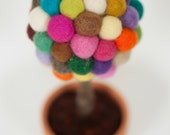 Felt ball happy tree Natural home decor