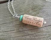 Wine Cork Necklace, upcycled recycled repurposed, wine cork