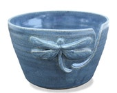 Yarn Bowl, Dragonfly Yarn Bowl, Blue Dragonfly