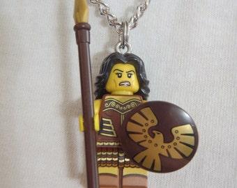 Custom Warrior Woman Necklace Made With Genuine LEGO® Bricks