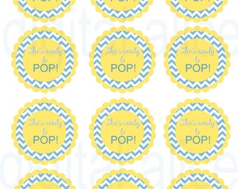 Ready to pop baby shower etsy for Ready to pop stickers template