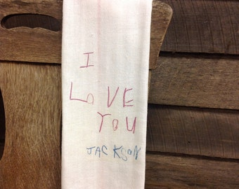 Tea towel with your Childs art drawing