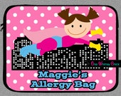 Personalized Superhero Allergy Case, Custom Epi-Pen Bag, Medicine Alert Bag