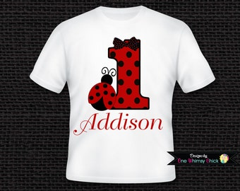 Ladybug Personalized T - Shirt Personalized