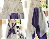 custom order for Brandi shabby chic flower girl dress
