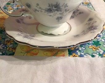 VIntage Blue Garland 2 Piece Tea Cup Set Made In Bavaria Germany #3150