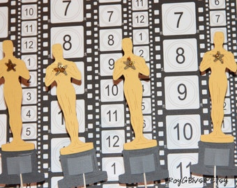 And The Oscar Goes To - Statue - Cupcake Toppers